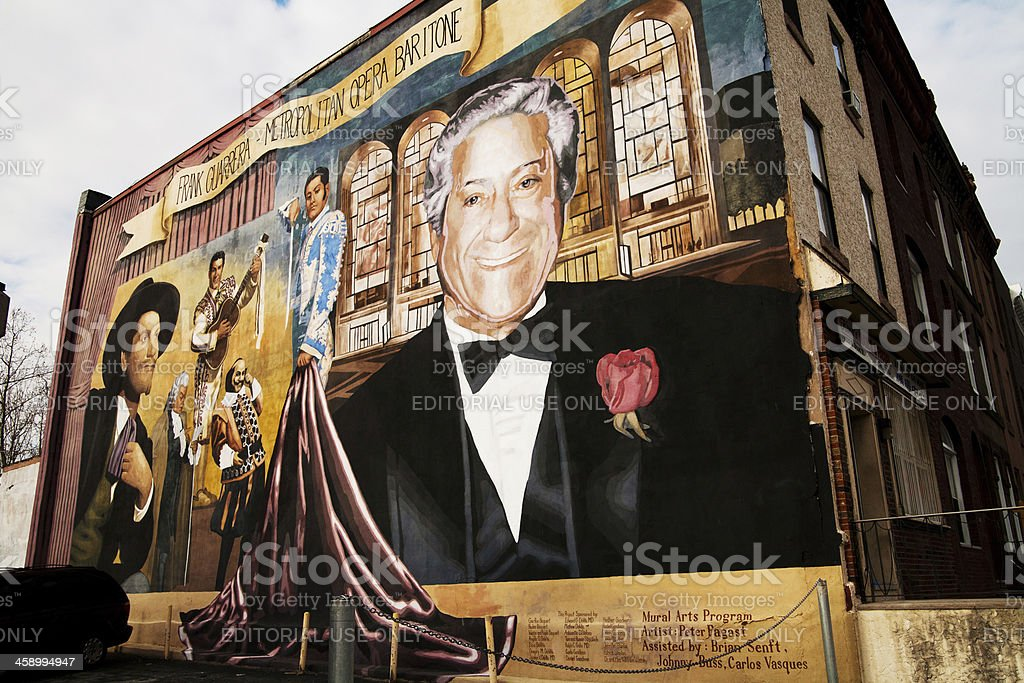 Philadelphia mural stock photo