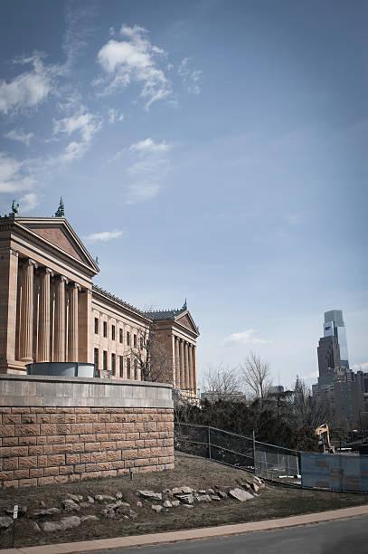 Philadelphia Museum of Art  and City Skyline stock photo