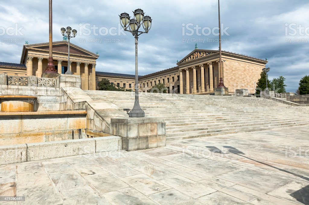 Philadelphia Museum of Art and the Famous 'Rocky Steps' royalty-free stock photo