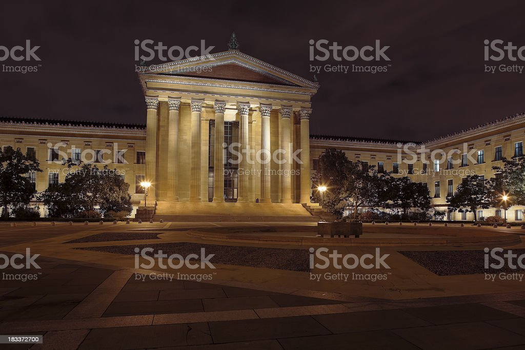 Philadelphia Museum of Art Illuminated After Dark stock photo