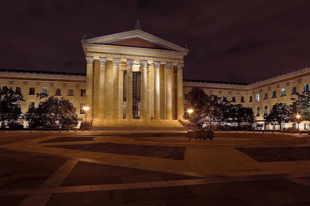 Philadelphia Museum of Art Illuminated After Dark stock photo