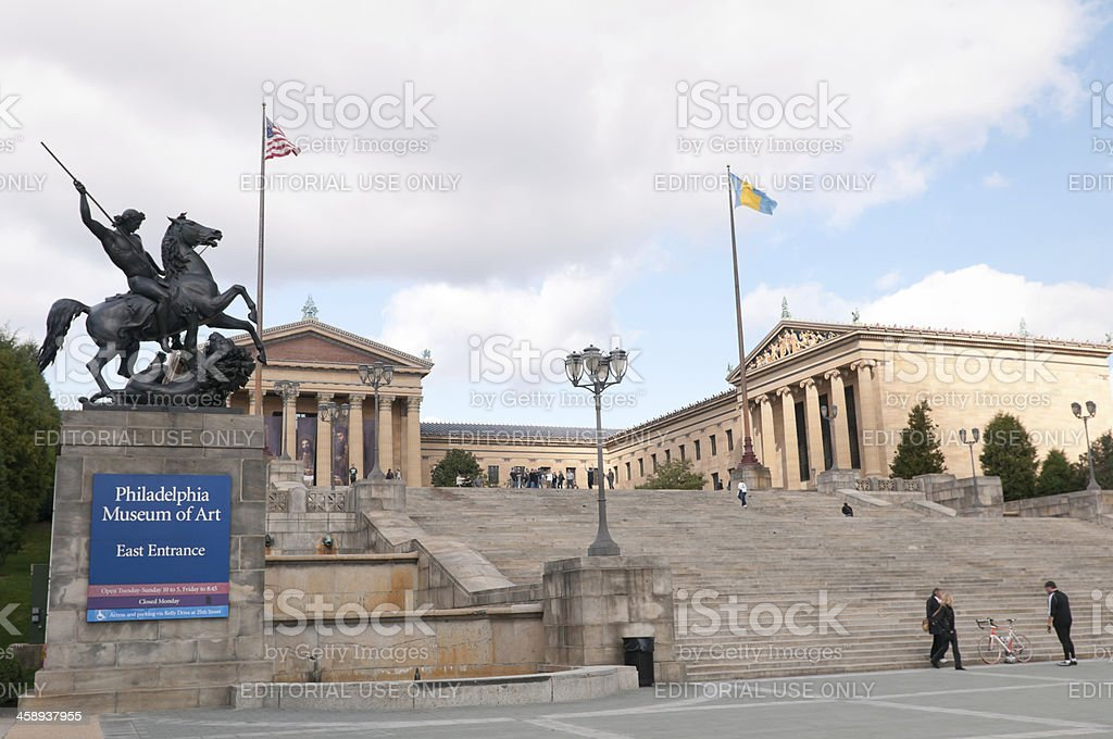 Philadelphia Museum of Art stock photo