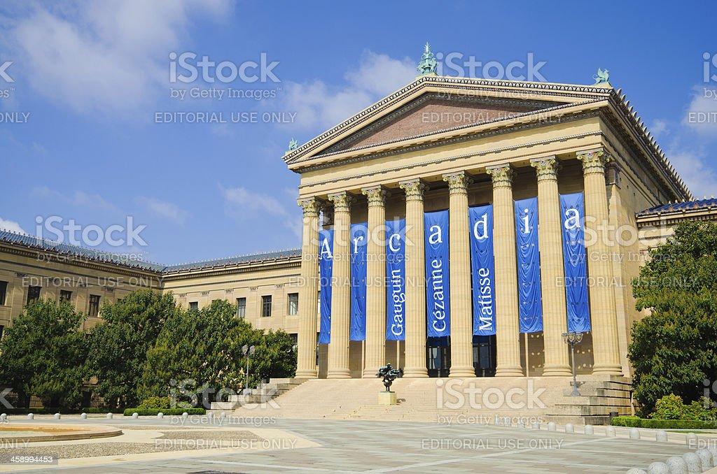 Philadelphia Museum of Art royalty-free stock photo