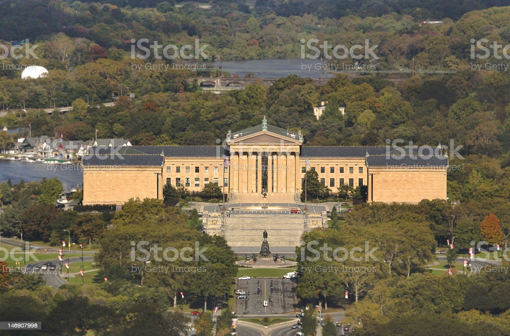 Philadelphia Museum of Art taken from City Hall stock photo