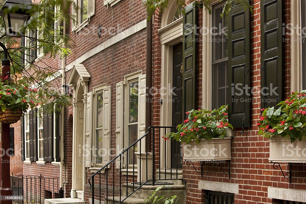 Philadelphia Neighborhood stock photo