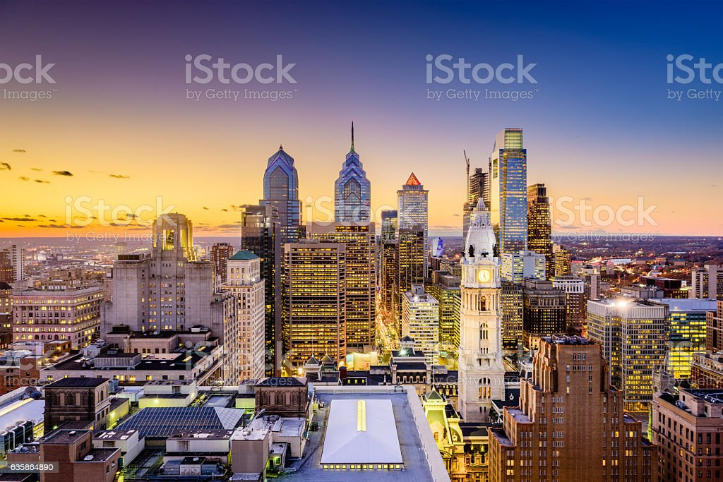 Philadelphia Pennsylvania Skyline stock photo