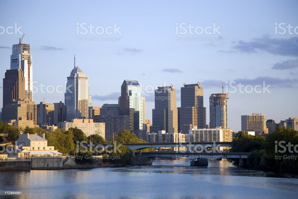 Philadelphia Pennsylvania Skyscraper Buildings royalty-free stock photo