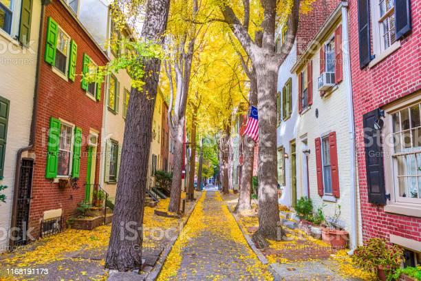 Photo of Philadelphia, Pennsylvania, USA Autumn Neighborhood Streets
