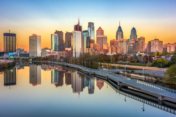 philadelphia, pennsylvania, usa - philadelphia skyline stock photos and pictures