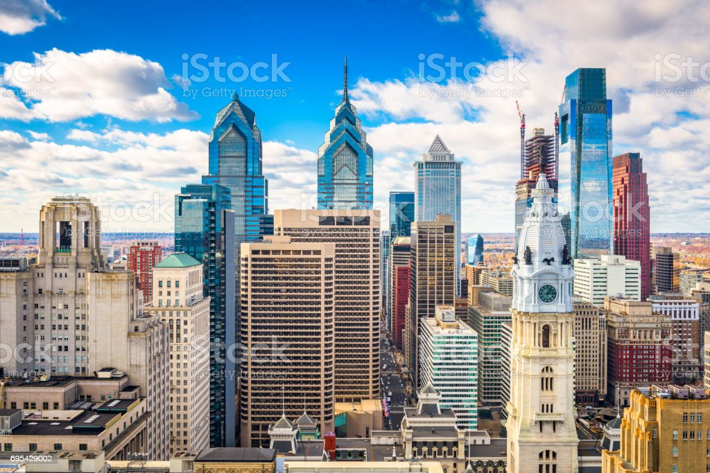 Philadelphia, Pennyslvania, USA Skyline stock photo