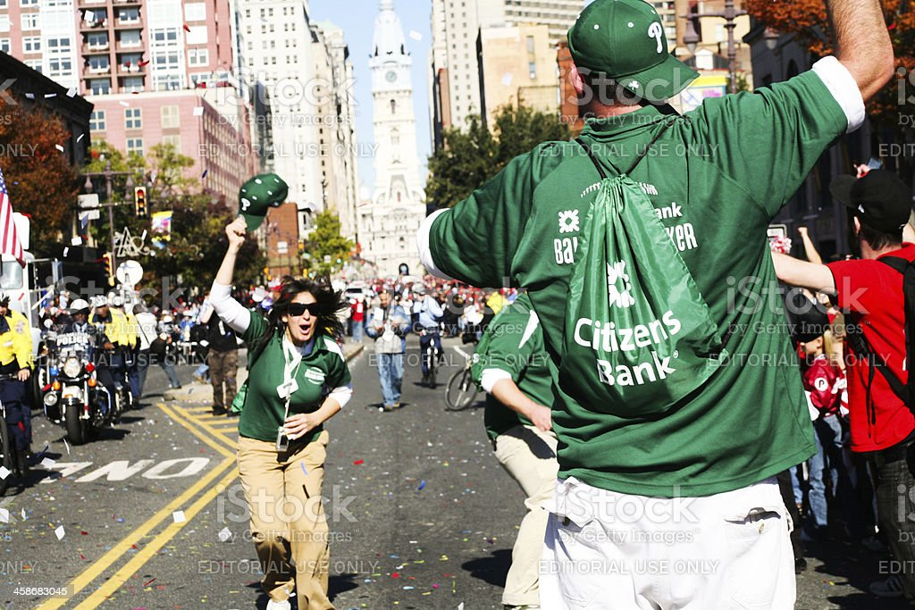 Philadelphia Phillies World Series Parade royalty-free stock photo