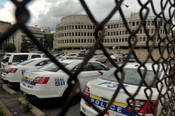 Philadelphia Police Aging Headquarters stock photo