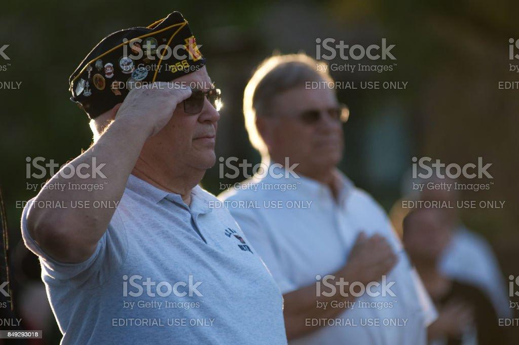 Philadelphia POW/MIA Memorial Ceremony stock photo