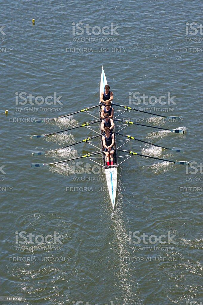 Philadelphia Skulling city championships royalty-free stock photo