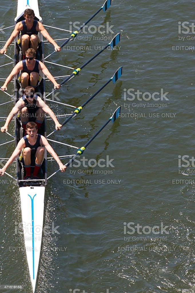 Philadelphia Skulling city championships stock photo