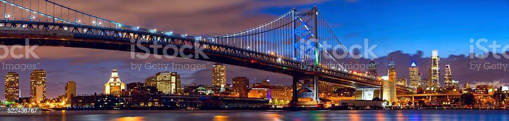 Philadelphia skyline panorama stock photo