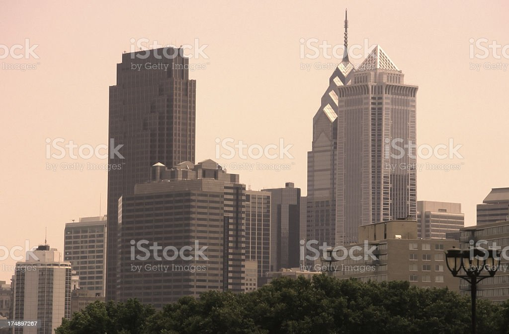 Philadelphia Skyline. royalty-free stock photo