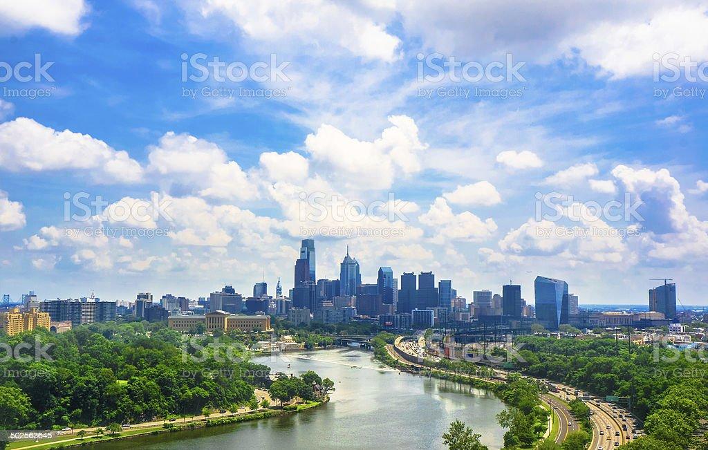 Philadelphia skyline stock photo