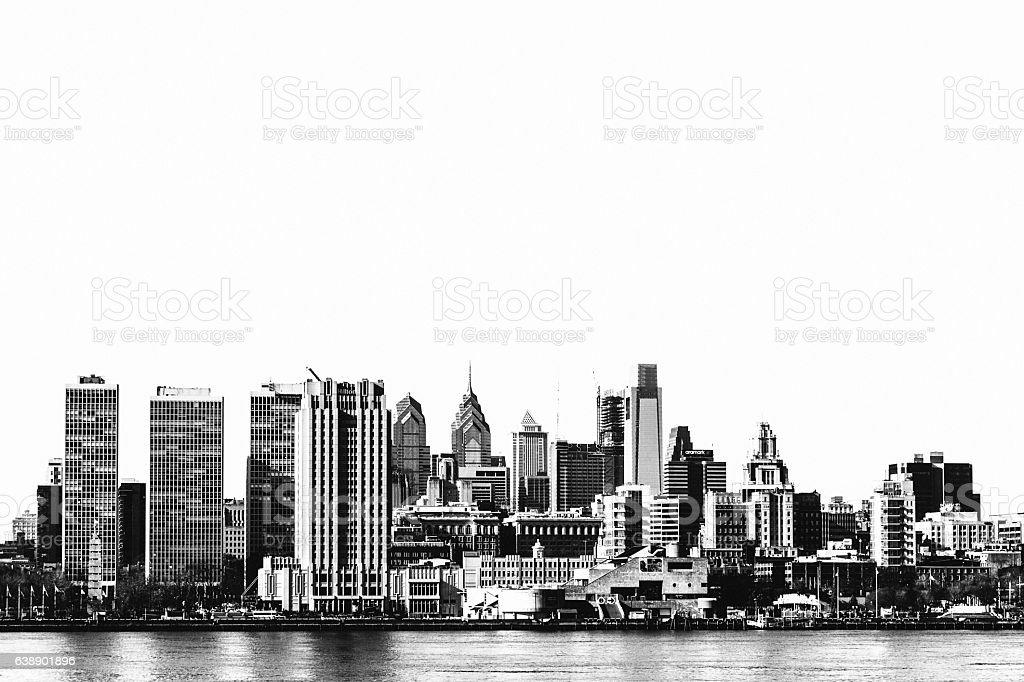 Philadelphia skyline. stock photo