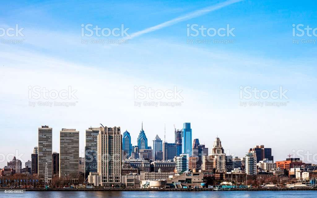 Philadelphia skyline. stock photo