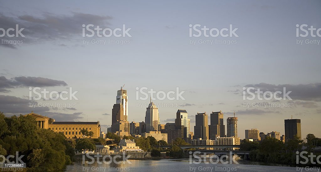 Philadelphia Skyline View stock photo