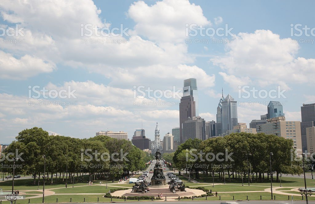 Philadelphia skyscraper stock photo