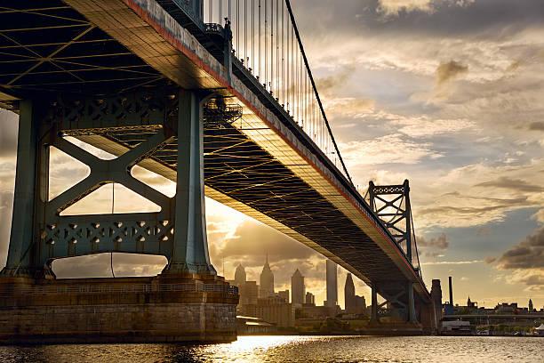 Philadelphia sunset stock photo