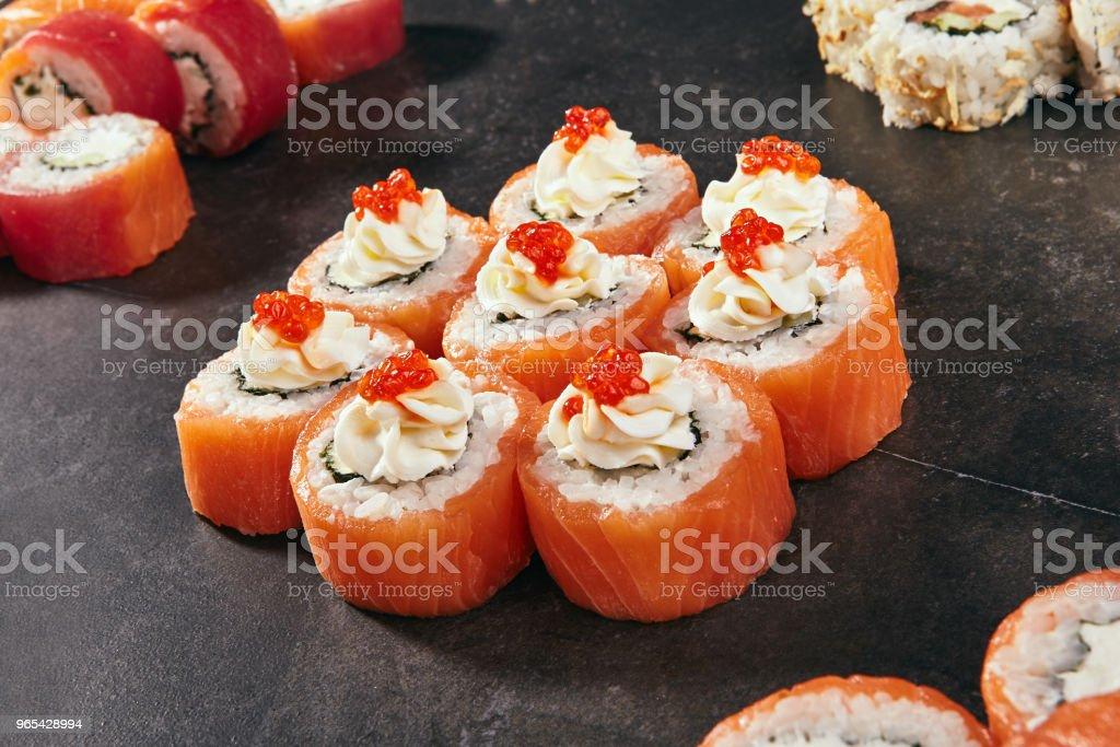 Philadelphia Sushi Roll royalty-free stock photo