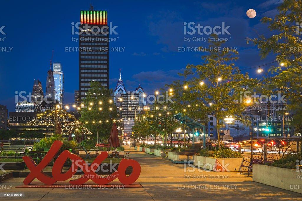 Philadelphia - The Porch at 30th Street stock photo