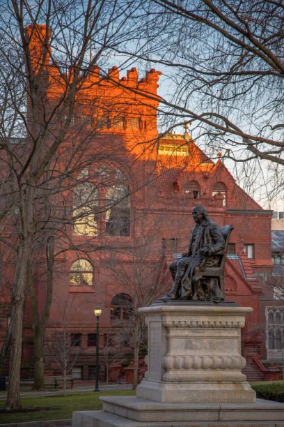 Philadelphia, United States - Feb. 14th, 2017: weekday scene in the University of Pennsylvania campus stock photo
