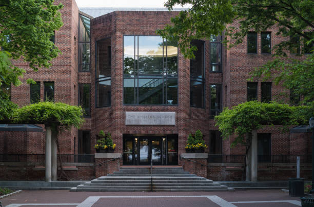 Philadelphia, United States - May 13th, 2017: Wharton School at the University of Pennsylvania campus on a weekend stock photo