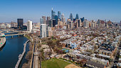 istock Philadelphia, which should be crowded on such warm sunny day, is deserted now because of COVID-19 Coronavirus outbreak. Aerial view on Downtown from Schuylkill River Park in early spring. 1215353393