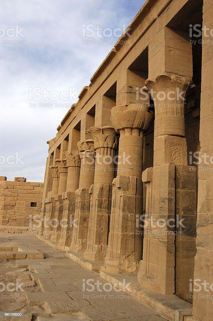 Philae pillars royalty-free stock photo