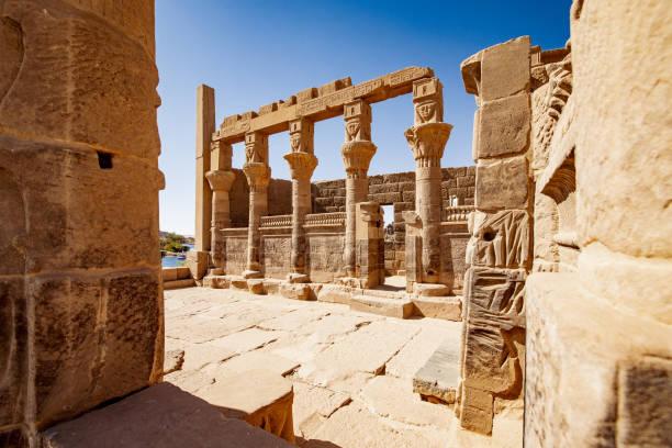 Philae temple in Egypt near Aswan stock photo