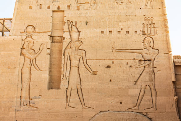 Philae Temple on Agilkia Island in the Nile River stock photo
