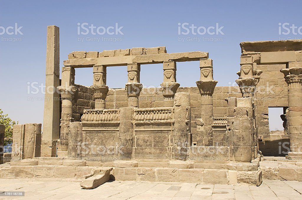 philae temple royalty-free stock photo