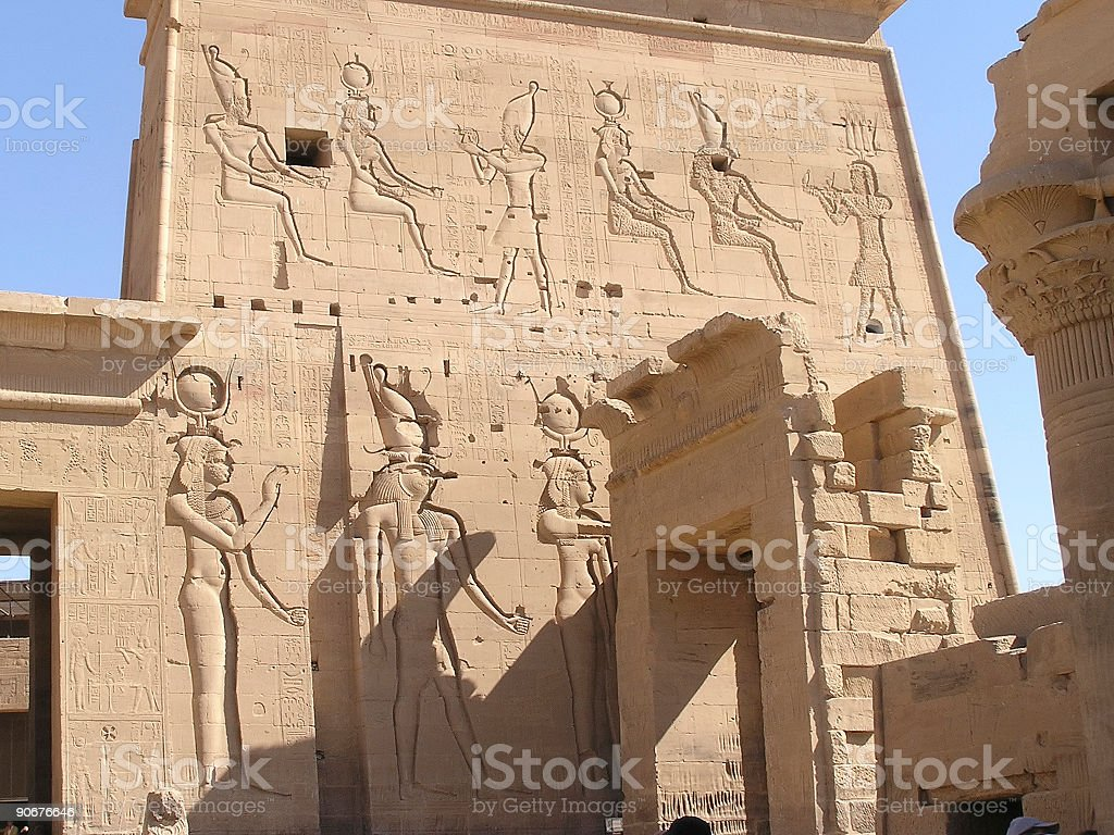 Philae Temples - Egypt stock photo