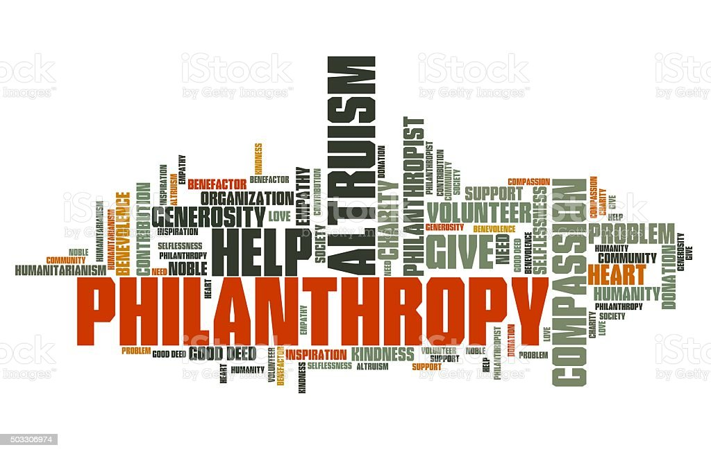 Philanthropy stock photo