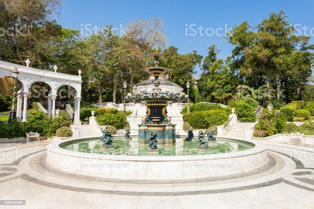 Philharmonic Fountain Park, Baku stock photo