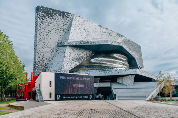 philharmonie de paris - philharmonie stock-fotos und bilder