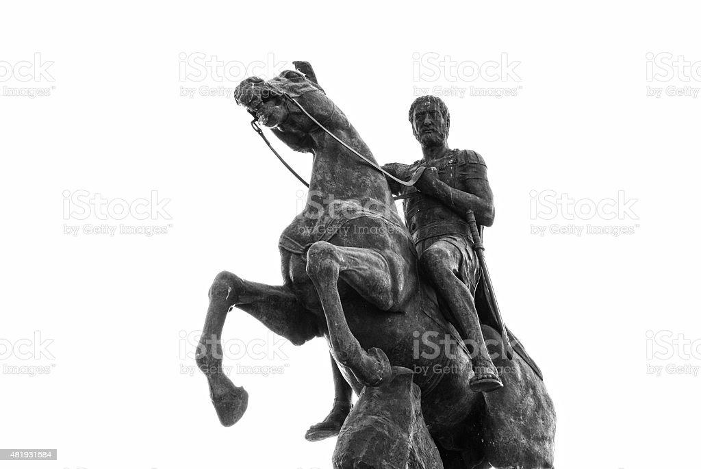 Philip II, Monument in Bitola, Macedonia stock photo