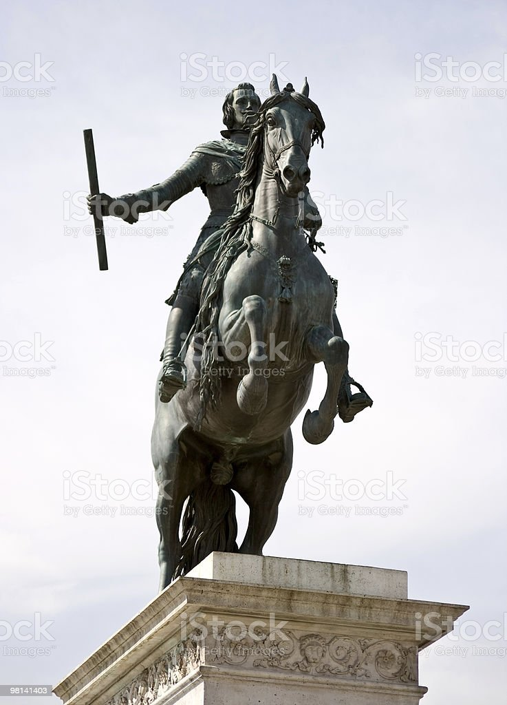 Philip IV statue royalty-free stock photo