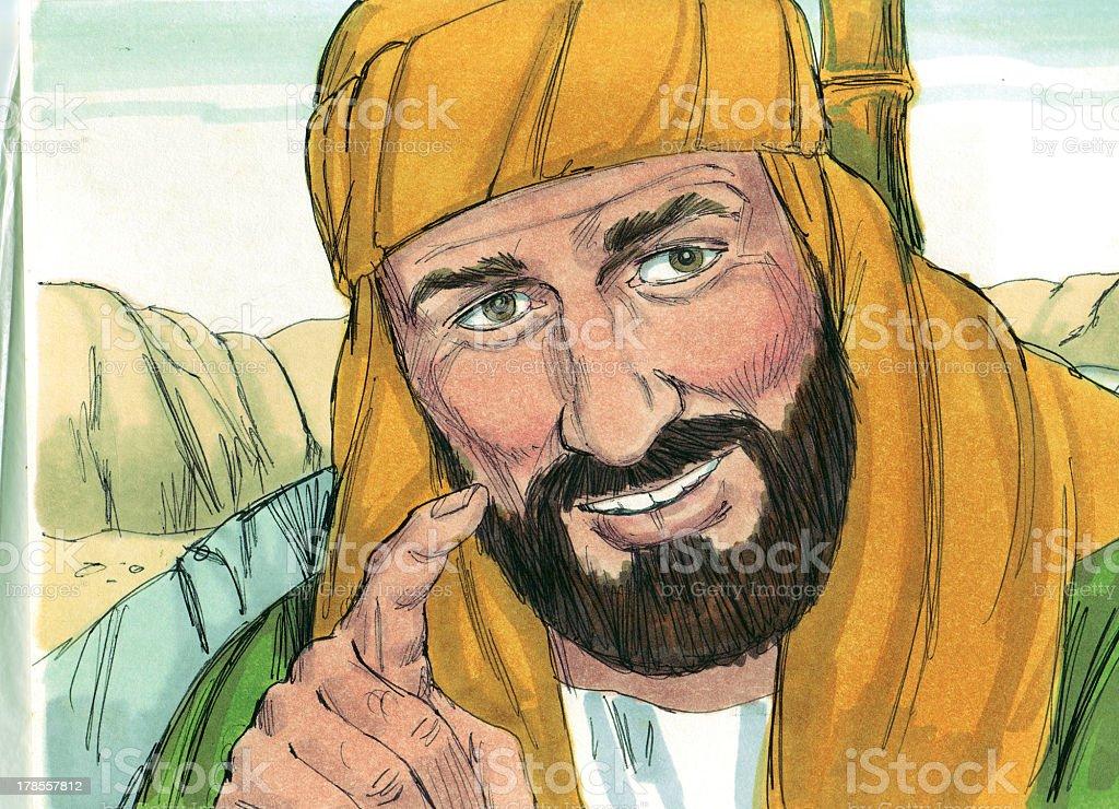 Philip Tells Ethiopian Eunuch About Jesus royalty-free stock photo