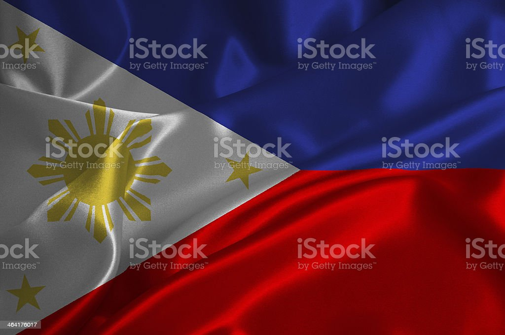 Philipines flag stock photo