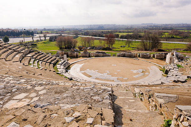 Philippi ancient theater stock photo