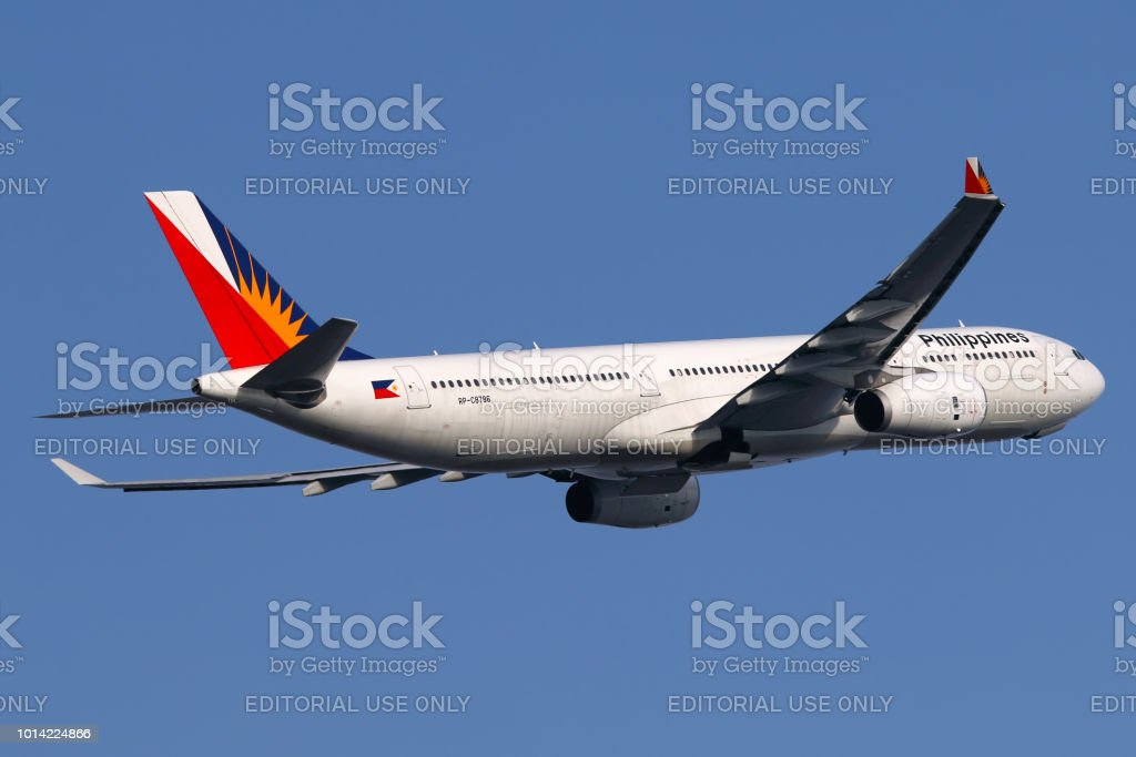Philippine Airlines aircraft stock photo