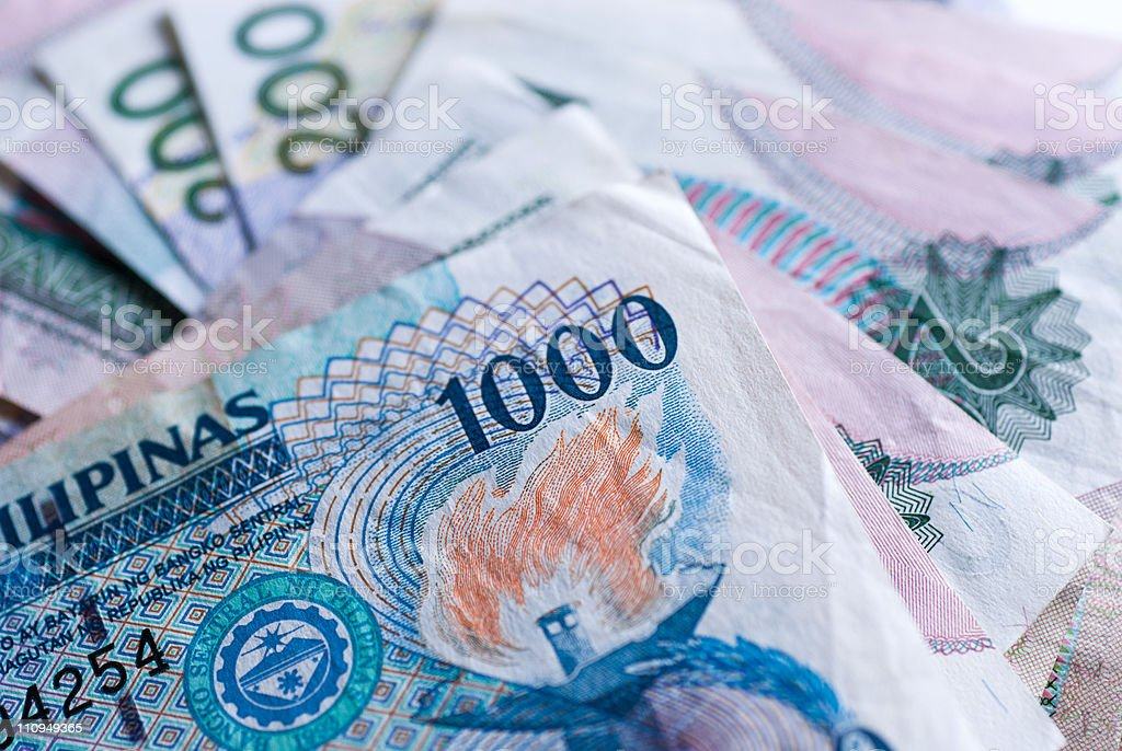 Philippine Banknotes stock photo