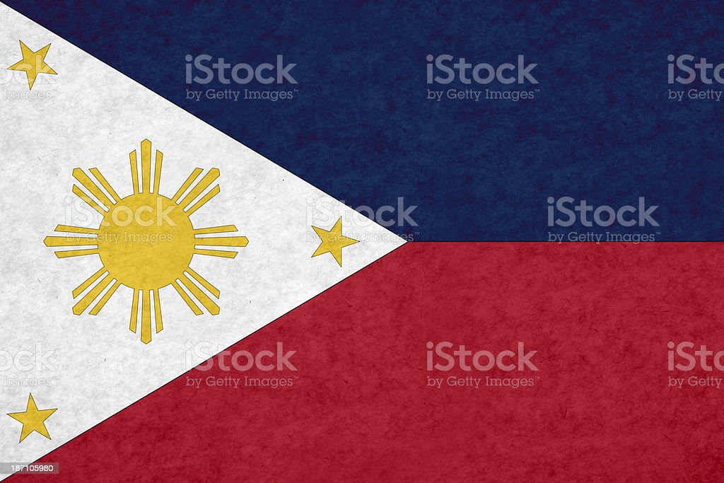 Philippine flag stock photo
