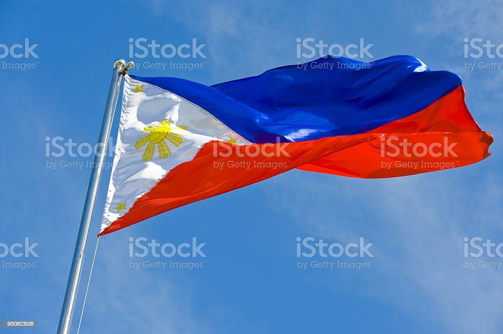 philippine flag stock photo