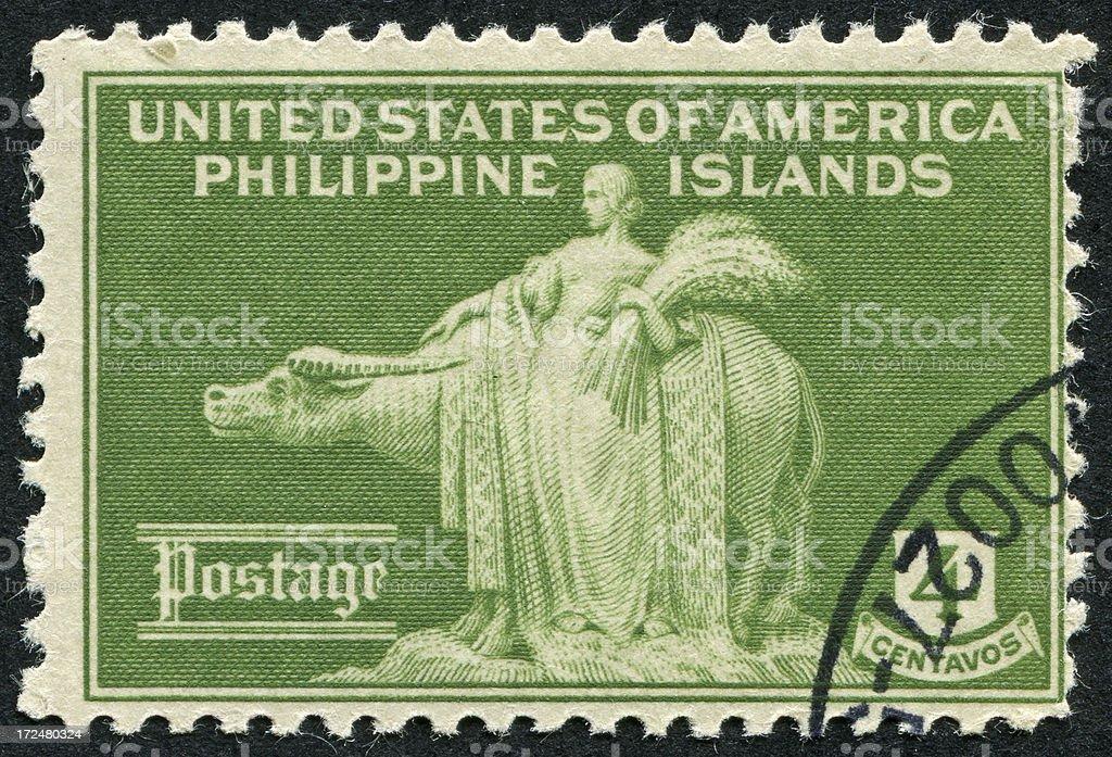 Philippine Islands Stamp royalty-free stock photo